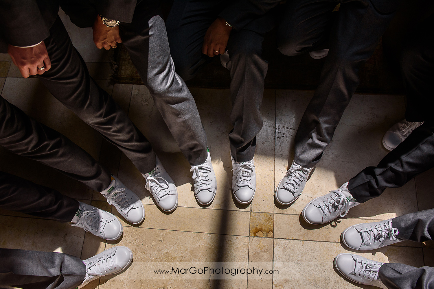 groom and groomsmen's wedding shoes at the Club at Ruby Hill in Pleasanton