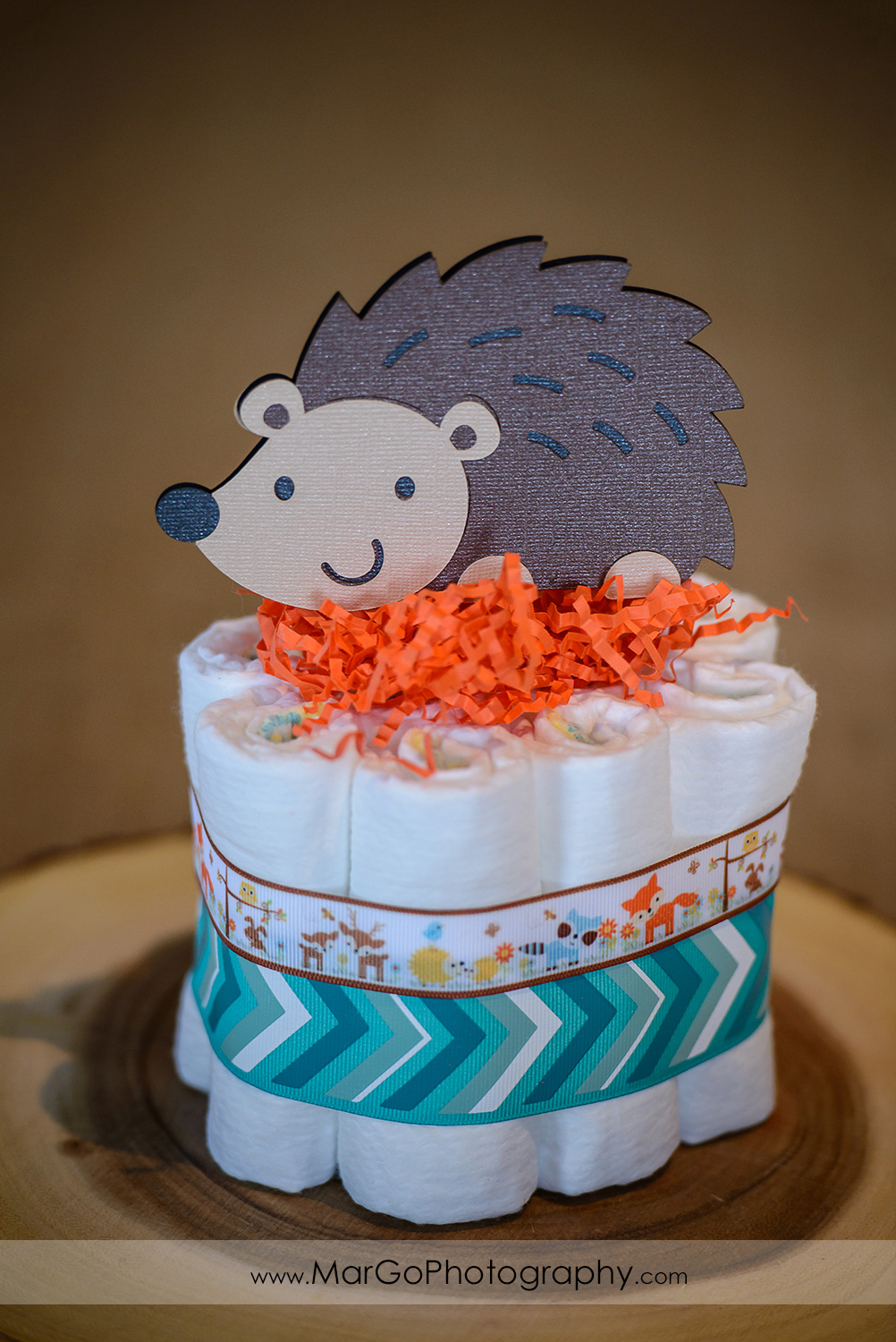 baby shower hedgehog centerpiece, Windmill Ridge Winery