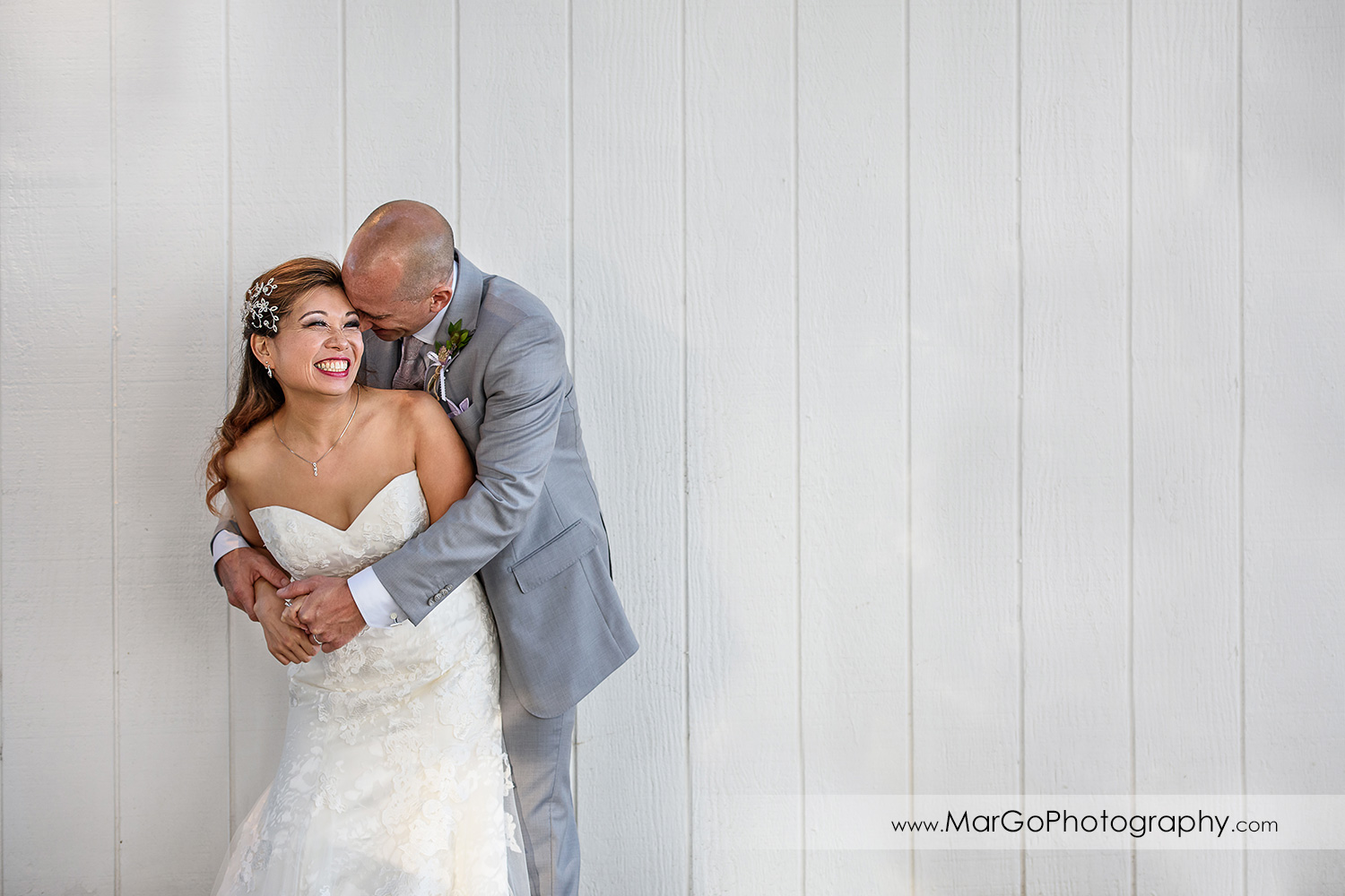 bride and groom at Mavericks Event Center in Half Moon Bay