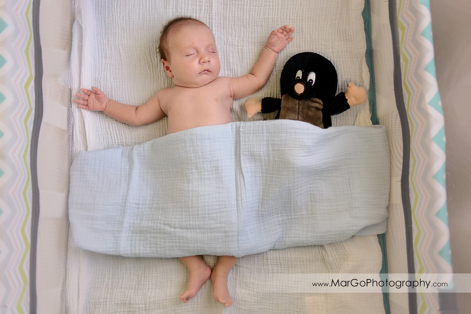baby sleeping in the crib