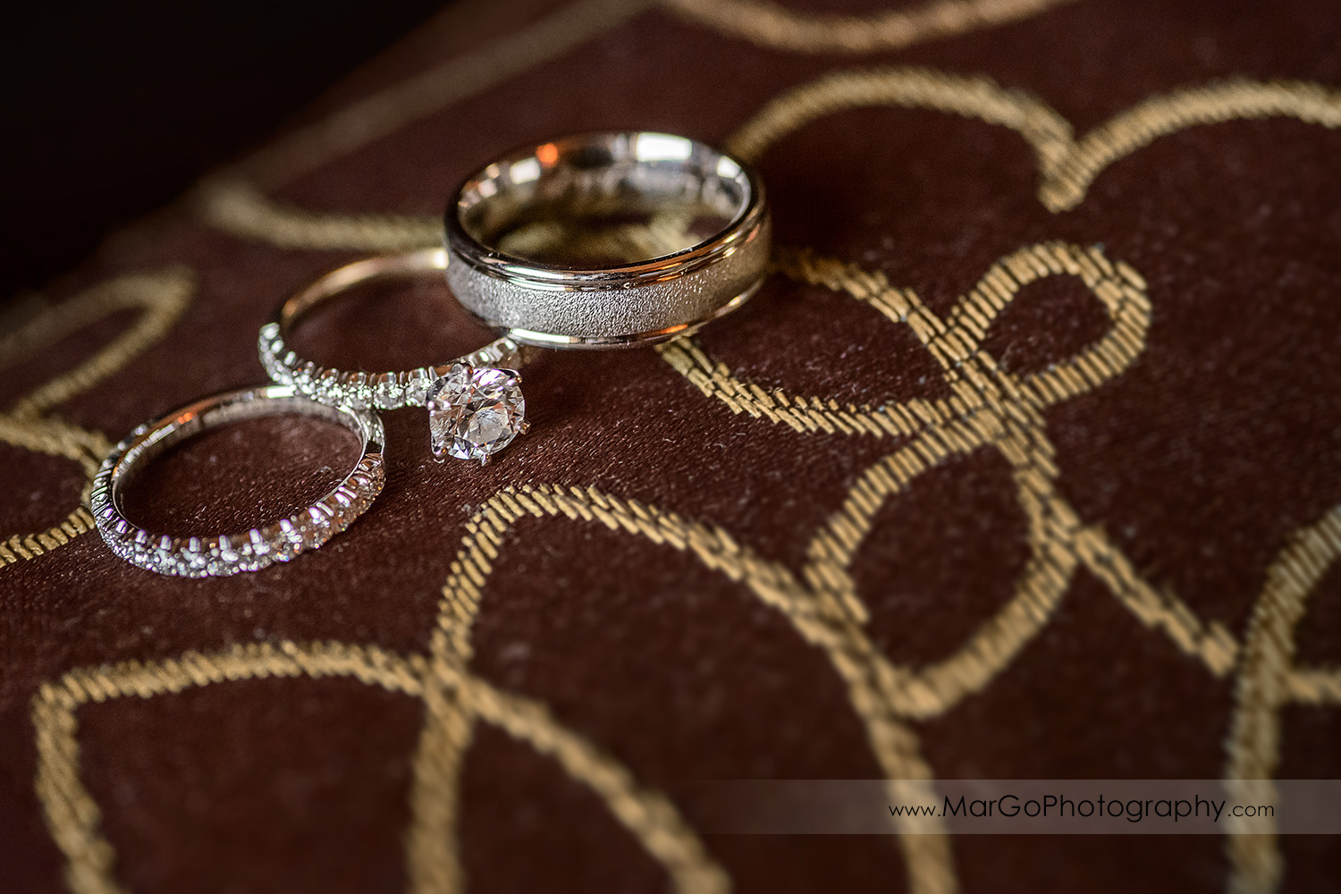 wedding rings at Whitcomb Hotel in San Francisco