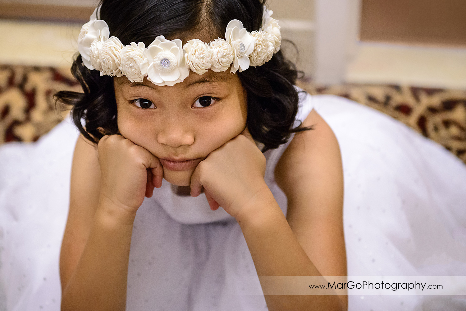 flower girl at Hilton San Francisco Airport Bayfront in Burlingame