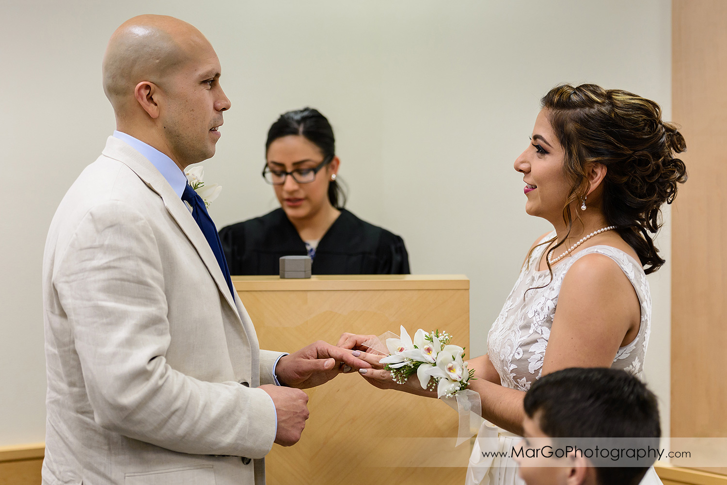 wedding ceremony at Contra Costa County Clerk-Recorder in Martinez