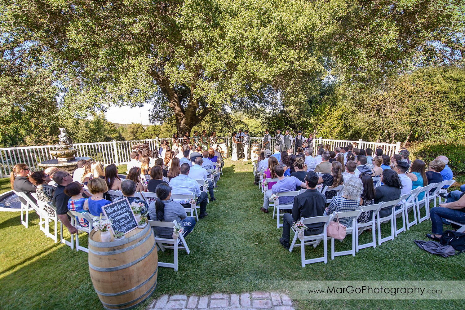 wedding ceremony at Picchetti Winery in Cupertino