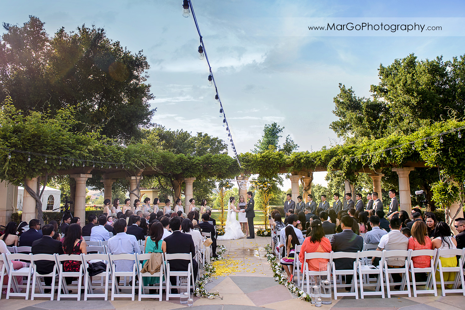 wedding ceremony at the Club at Ruby Hill in Pleasanton