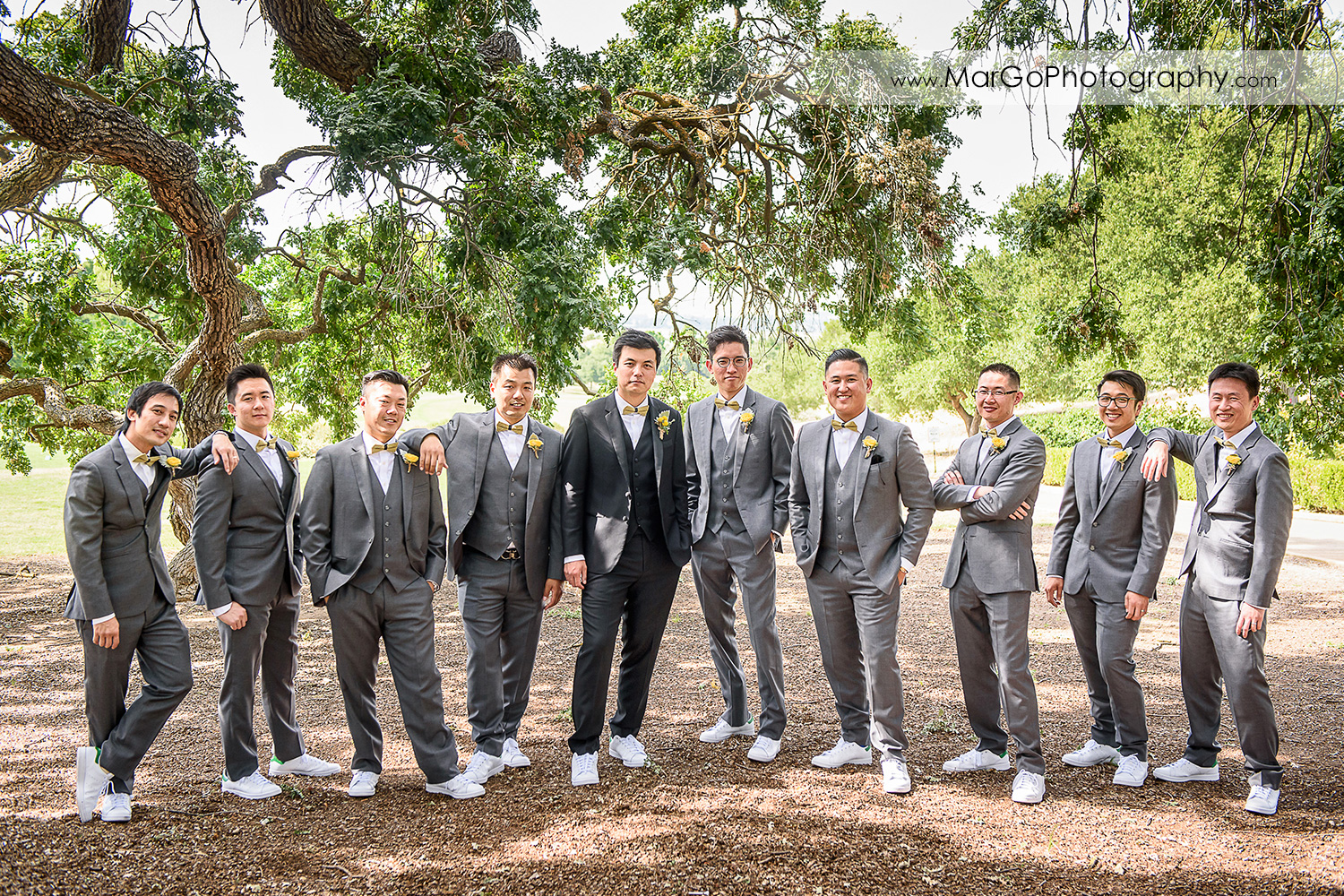 groom and groomsmen at the Club at Ruby Hill in Pleasanton