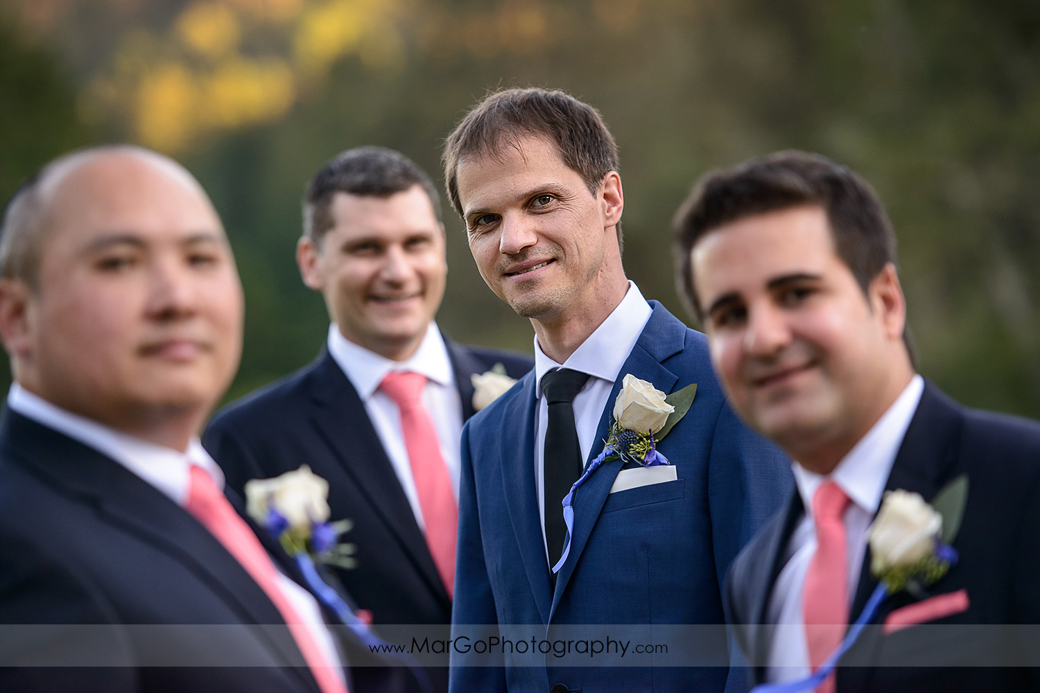 groom and groomsmen at Brazilian Room - Tilden Regional Park, Berkeley, CA