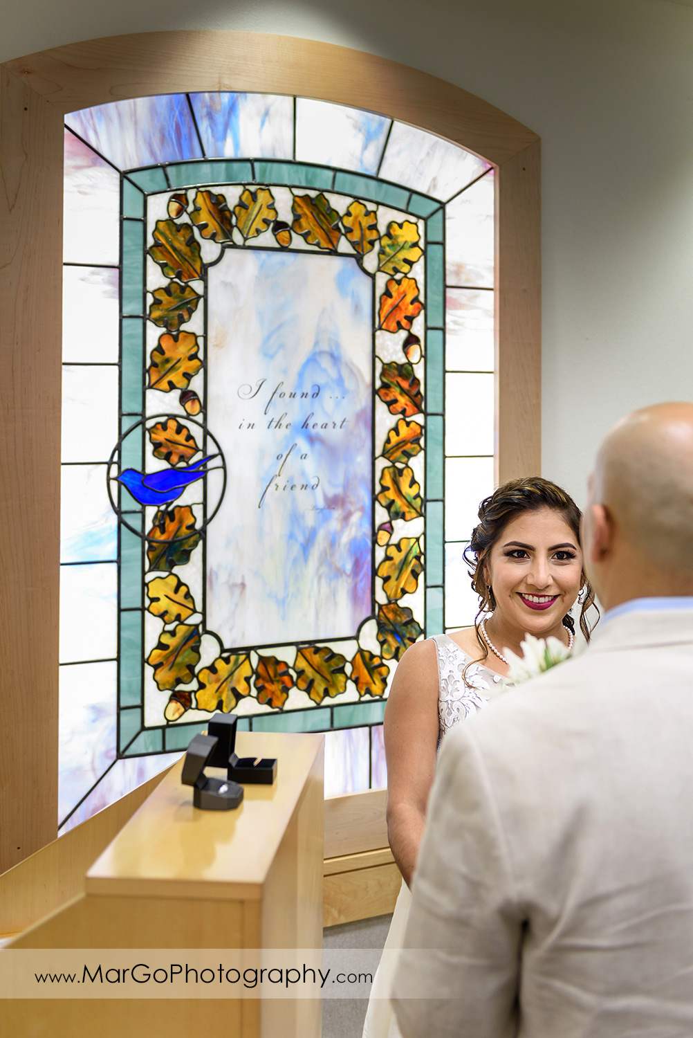 bride Large Ceremony Room at Contra Costa County Clerk-Recorder in Martinez