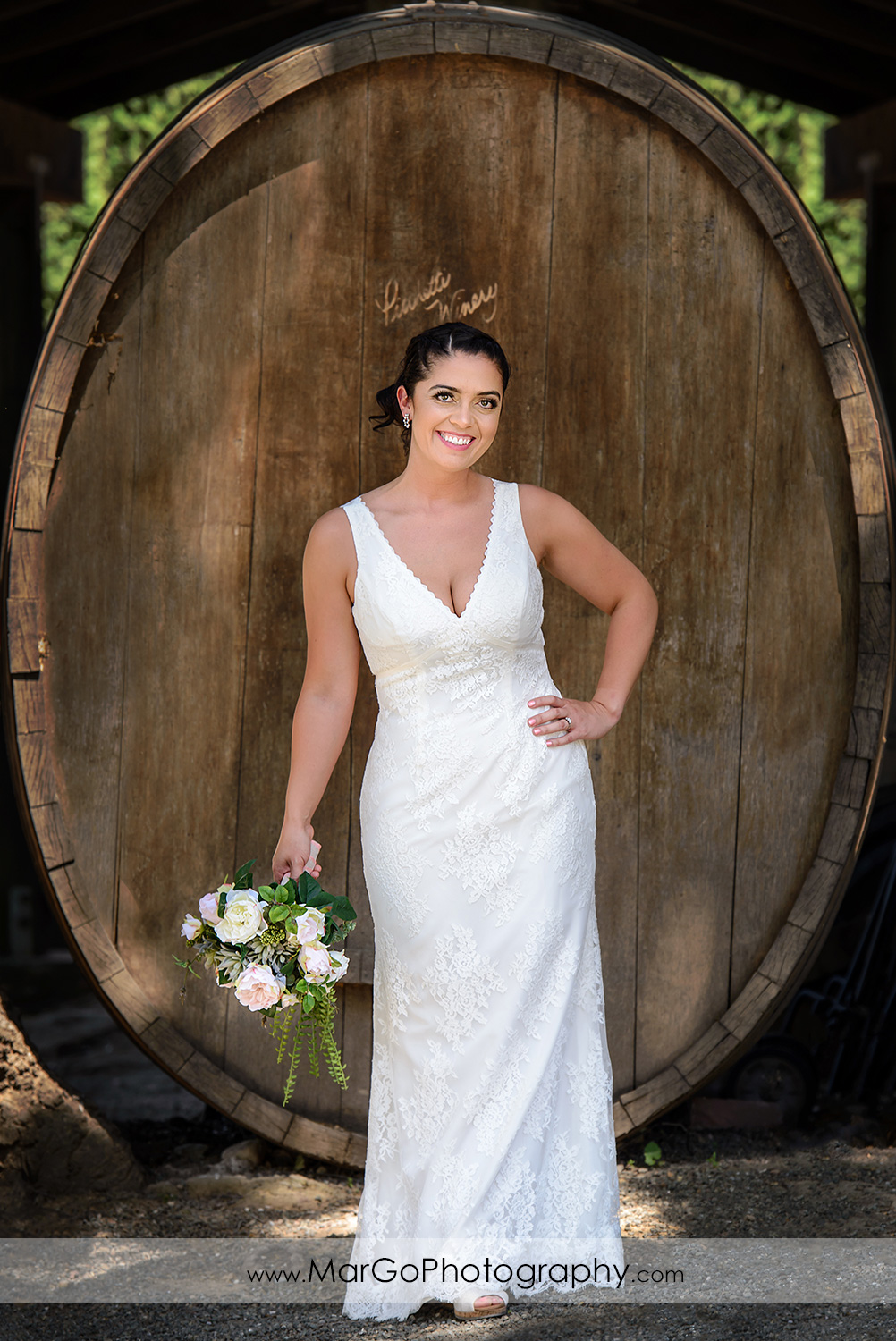 bridal portrait  at Picchetti Winery in Cupertino
