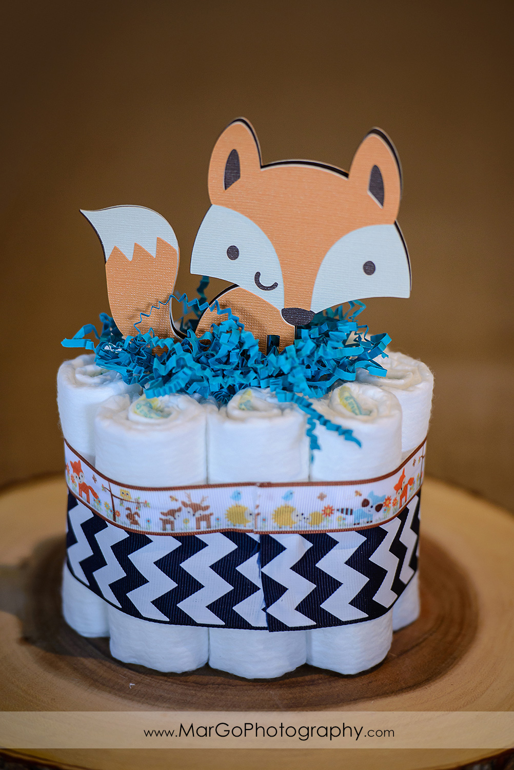 baby shower fox centerpiece, Windmill Ridge Winery