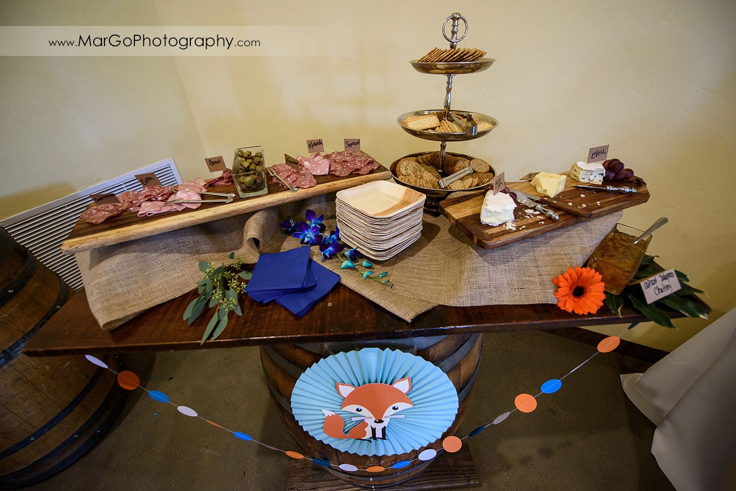 baby shower appetizer table, Windmill Ridge Winery