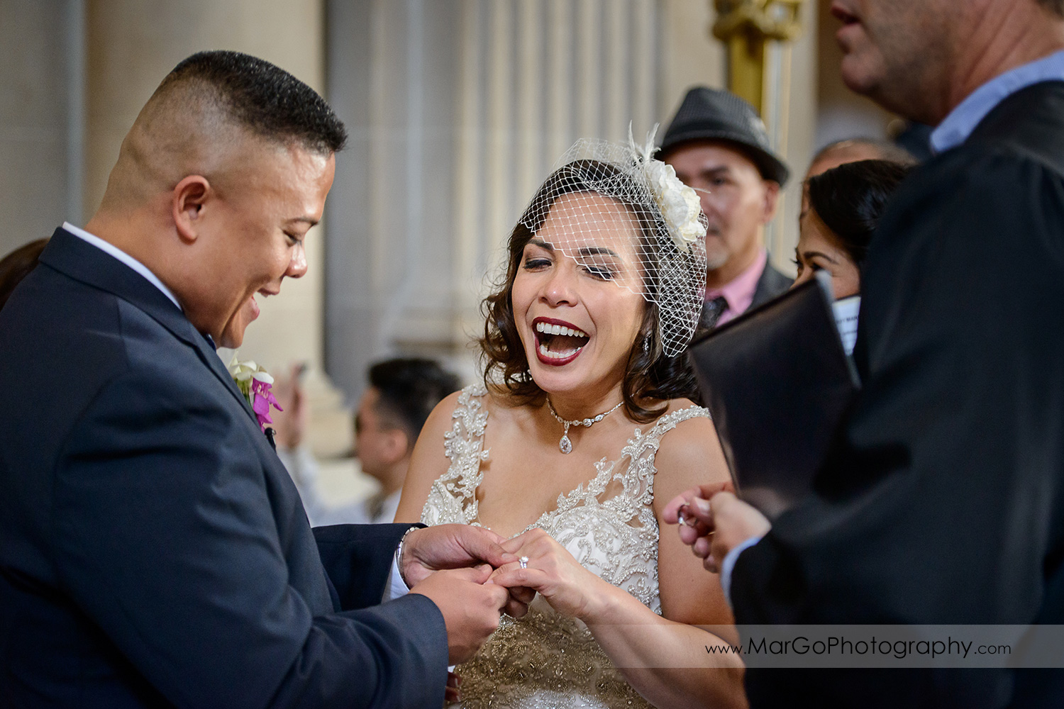 wedding ceremony at San Francisco City Hall