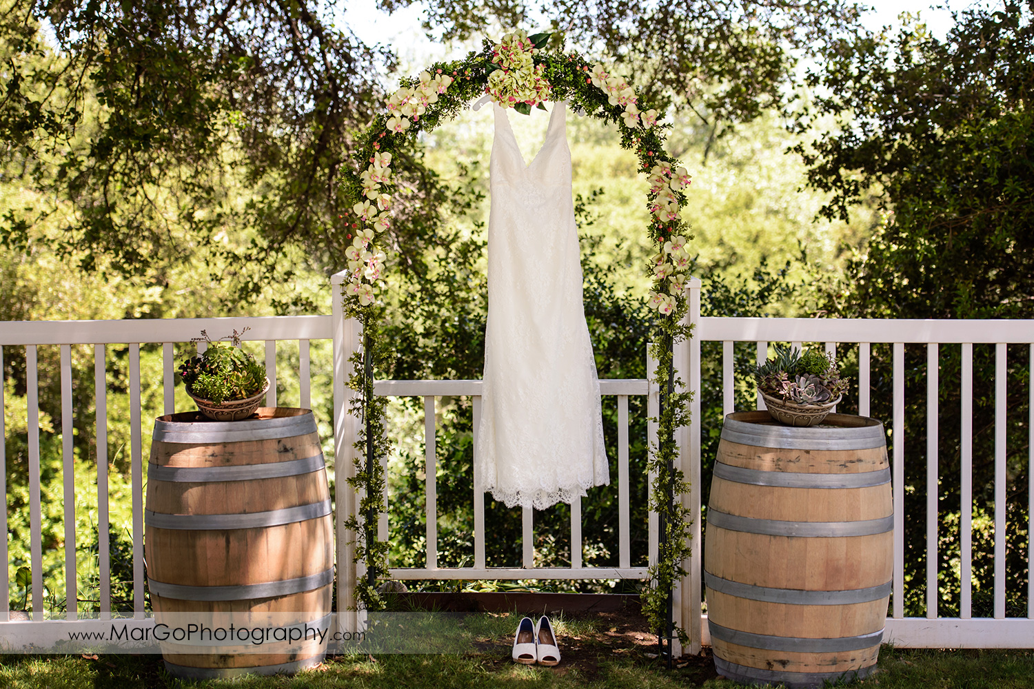 bridal dress at Picchetti Winery in Cupertino