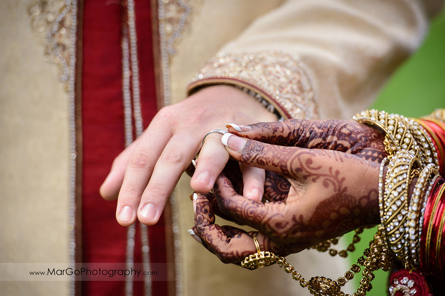 wedding rings exchange, indian wedding at Brazilian Room - Tilden Regional Park, Berkeley