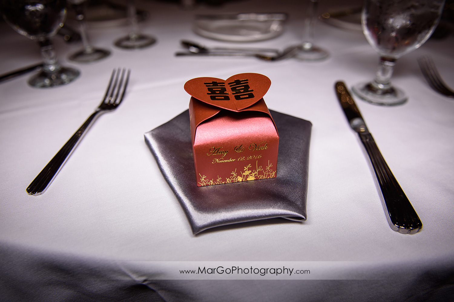wedding favor at Hilton San Francisco Airport Bayfront in Burlingame
