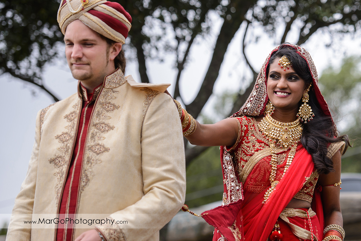 first look before Indian wedding at Tilden Regional Park, Berkeley