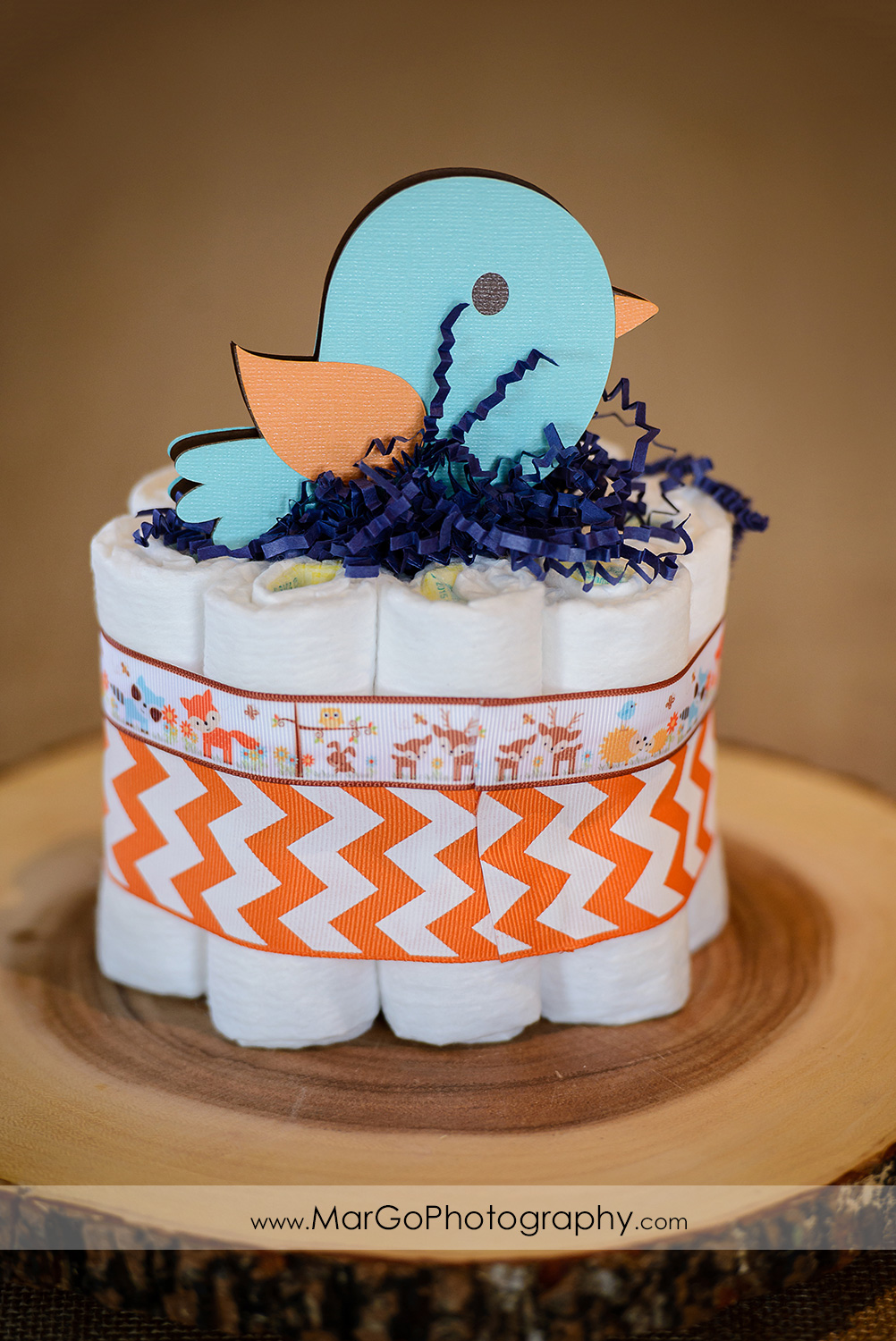 baby shower bird centerpiece, Windmill Ridge Winery