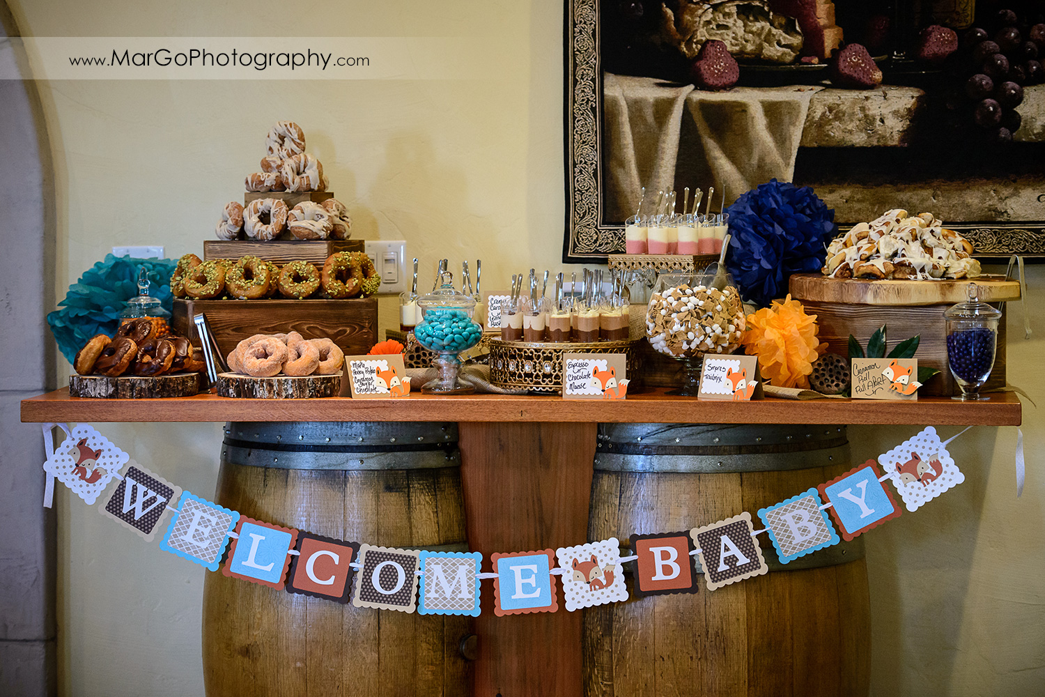 baby shower sweet table, Windmill Ridge Winery